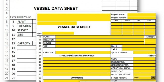 Vessel Data Sheet – Excel and PDF Form